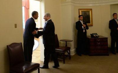 Barack Obama et Benjamin Netanyahu - 30 septembre, 2013. (Crédit : Kobi Gideon/GPO/Flash90)