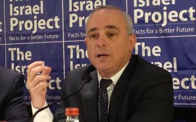 Yuval Steinitz (Crédit: Raphael Ahren/TOI)