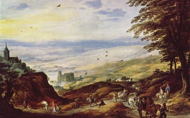 Joos de Momper, Paysage, premier tiers du XVIIe siècle (Crédit : The Yorck Project/domaine publique)