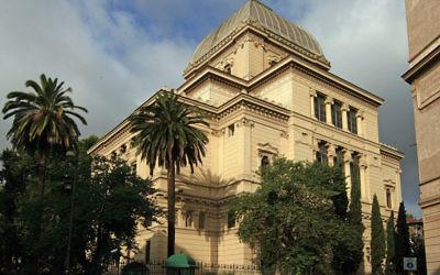 La synagogue de Rome (Crédit : Wikimmedia Commons/Jensens/domaine publique)