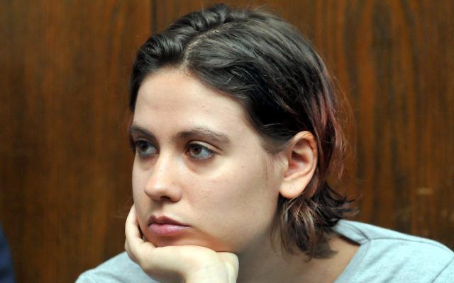 Anat Kam, au tribunal de Tel Aviv - 12 avril 2011 (Crédit : Yossi Zeliger/Flash 90)