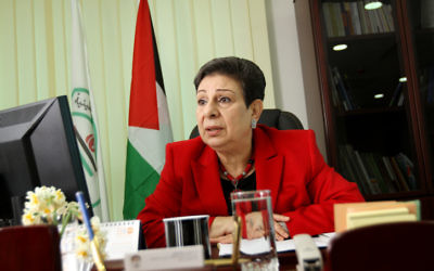Hanane Ashrawi (Crédit : Miriam Alster/Flash90)