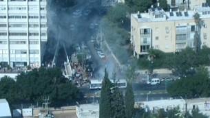 Attentat-suicide dans un bus à Tel aviv - novembre 2012 (Capture d'écran : Channel 10)