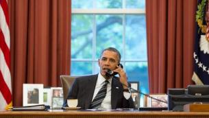 Barack Obaman dans le Bureau Ovale (Crédit : Pete Souza via White House Twitter page)