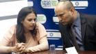 La députée Ayelet Shaked, avec Naftali Bennet, HaBayit HaYehudi (Crédit : Flash90)