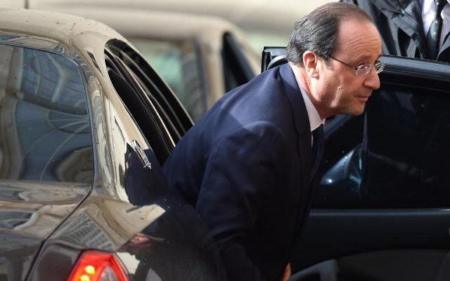 François Hollande (Crédit : AFP/Vincenzo Pinto)