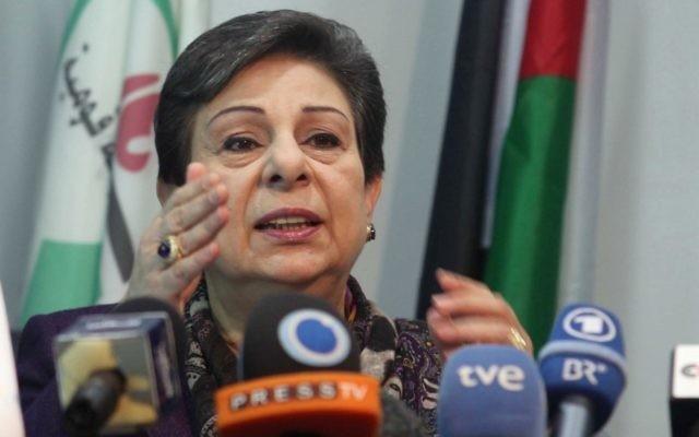 Hanan Ashrawi, membre du comité exécutif de l'Organisation de libération de la Palestine (OLP) (Crédit : Issam Rimawi/Flash90)