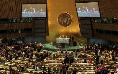 L'Organisation des Nations unies réunie en Assemblée générale. Illustration. (Crédit : CC BY linh.m.do, Flickr)