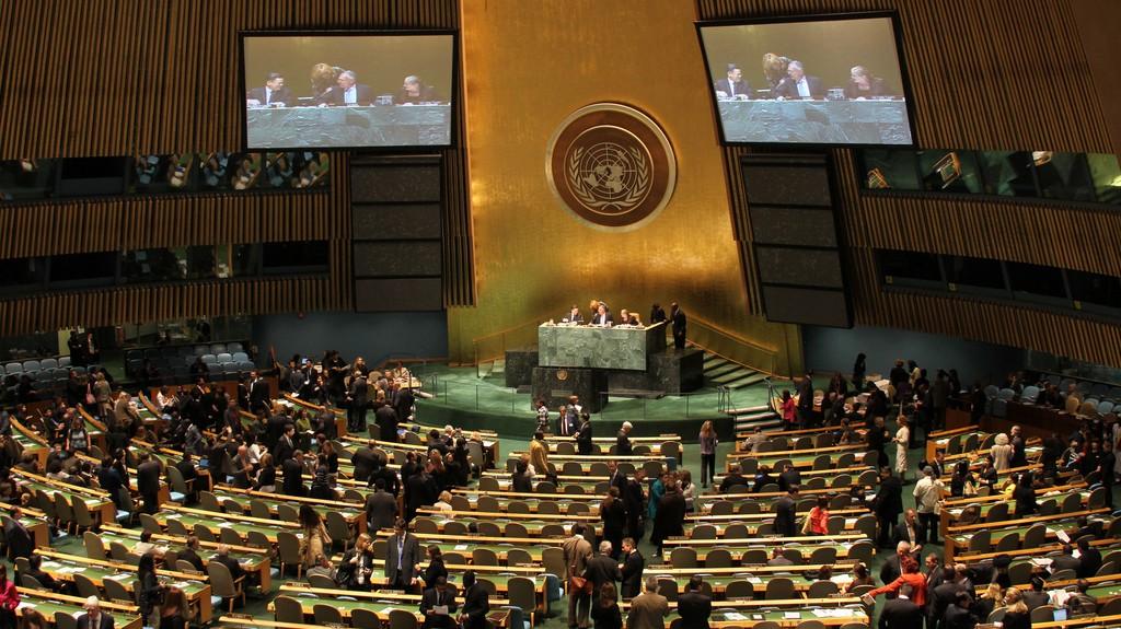L'Organisation des Nations Unies réunie en Assemblée générale (ONU) (Crédit : CC BY linh.m.do, Flickr)