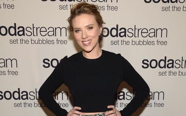 L'actrice Scarlett Johansson lors d'une soirée promotionnelle de Sodastream, le 10 janvier 2014 à New York (Crédit : Getty/AFP/Archives Mike Coppola)
