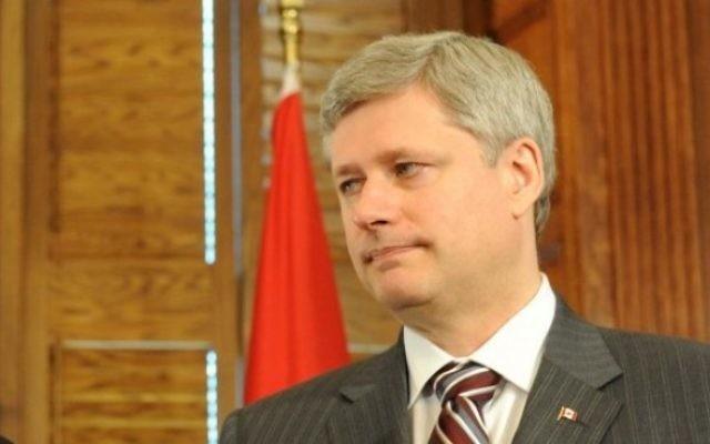 Le Premier ministre canadien Stephen Harper (Crédit : Avi Ohayon/GPO/Flash90)