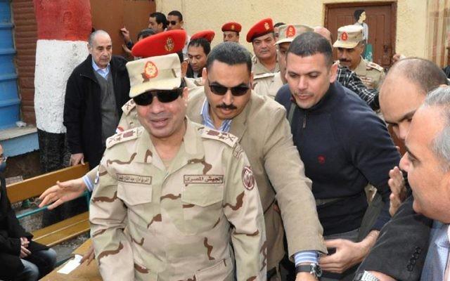 Le général Abdel Fattah al-Sissi (Crédit : Armée égyptienne/AFP/Archives)