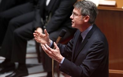 Le ministre de l'Education nationale Vincent Peillon à l'Assemblée nationale, à Paris le 22 janvier 2014 (Crédit : AFP)