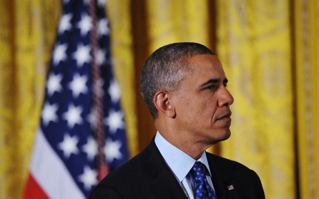 Le président américain Barack Obama, le 22 janvier 2014 à la Maison Blanche, à Washington  (Crédit : AFP/Archives Mandel Ngan)