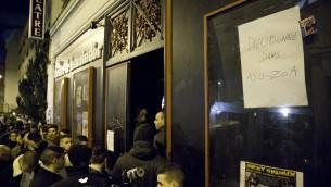 Le public le 13 janvier 2014 à l'entrée de la Main d'Or à Paris (Crédit : AFP/Archives Patrick Kovarik)