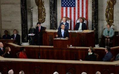Obama, discours sur l'état de l'Union, le 28 janvier 2014 au Capitole, à Washington