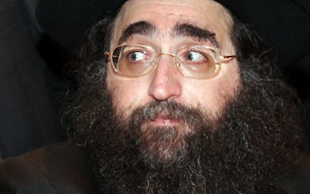 Rabbi Yoshiyahou Yosef Pinto (Crédit : Gideon Markowicz/Flash90)
