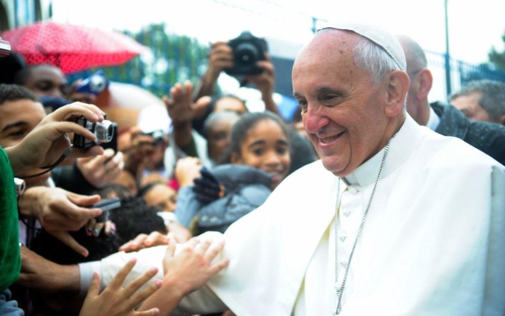Le pape François à Varginha, Brésil. (Crédit : Wikimedia Commons/CC BY Tânia Rêgo/ABr)