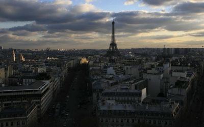 Vue de Paris (Crédit : Yossi Zamir/Flash90)