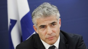 Yair Lapid, ministre des Finances (Crédit : Miriam Alster/FLASH90)