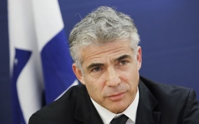 Yair Lapid, ministre des Finances (Crédit : Miriam Alster/FLASH90)