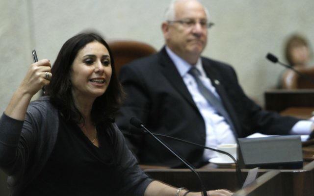 La députée du Likoud Miri Regev à la Knesset (Crédit : Miriam Alster/Flash90)