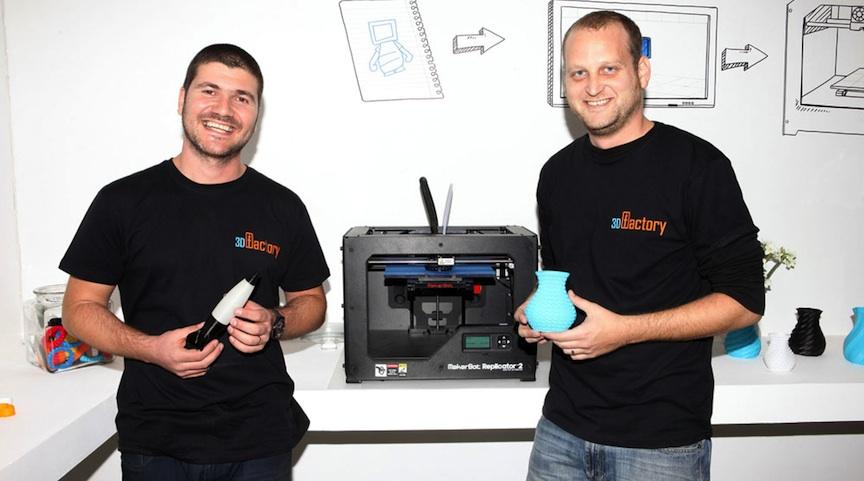 Les deux co-fondateurs de 3D Factory, Shaul Cohen et Oded Marcus (Crédit: 3D Factory)