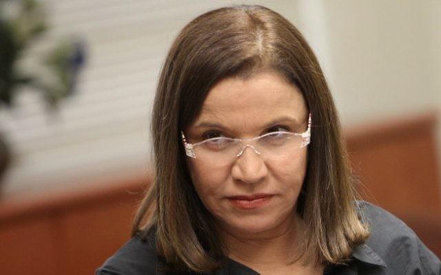 Shelly Yachimovich, députée de l'Union sioniste et ancienne dirigeante du Parti travailliste. (Crédit : Miriam Alster/Flash90)