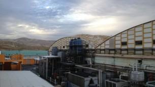 L'usine SodaStream à Mishor Adumim, ancienne usine à munitions de l'armée israélienne (Crédit: Elhanan Miller/TOI)