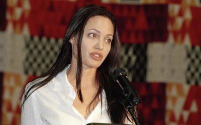 Angelina Jolie (Crédit : ONU Photo/Eskinder Debebe/Flash90)