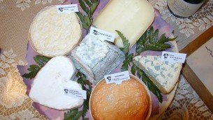 Assortiment de six fromages français (Crédit : Semnoz/Wikimedia Commons/CC BY SA3.0)