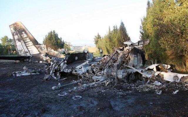 Crash de l'avion militaire libyen en Tunisie (Crédit : AFP)