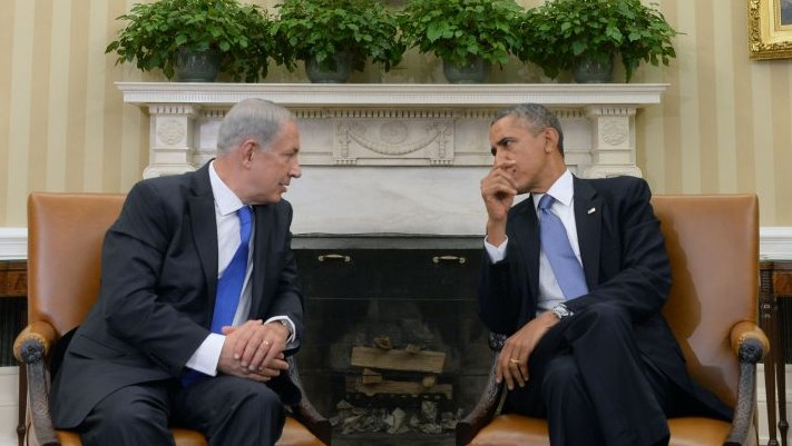 Benjamin Netanyahu et Barack Obama à Washington, le 30 septembre 2013 (Crédit : Kobi Gideon/GPO/Flash90)