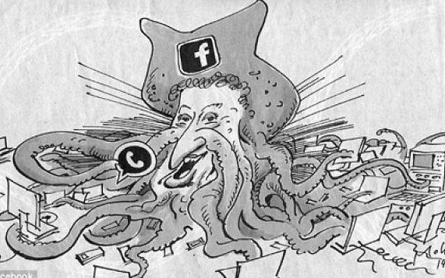 Caricature de Mark Zuckerberg, parue dans le quotidien allemand Süddeutsche Zeitung