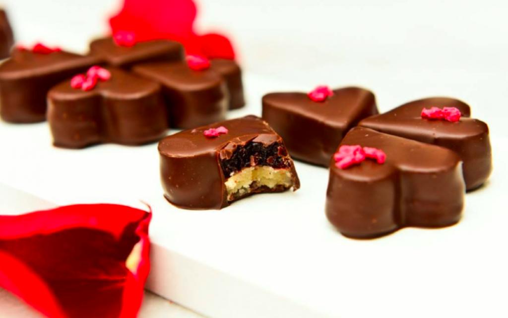 Chocolats en forme de cœur (Crédit : autorisation du Festival de chocolat)