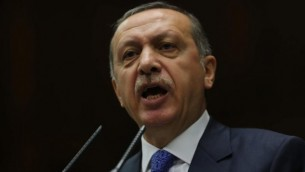 Recep Tayyip Erdogan (Crédit : AFP/Adem Altan)