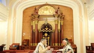 Une synagogue de Kiev, en Ukraine. Illustration. (Crédit : Mendy Hechtman/Flash90)