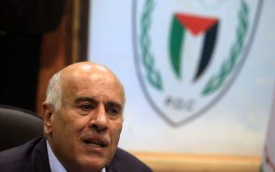 Jibril Rajoub, responsable du Fatah, à Ramallah le 12 février 2014. (Crédit : Nati Shohat/Flash90)