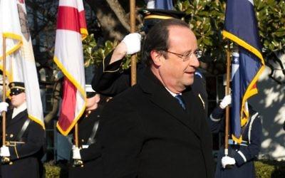 François Hollande lors d'une cérémonie à la Maison Blanche, le 11 février 2014 à Washington (Crédit : AFP/Alain Jocard)