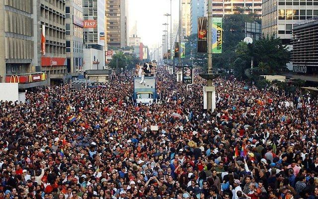 Gay Pride au Brésil (Crédit : Rose Brasil/ABr/Agência Brasil/Wikimedia commons)