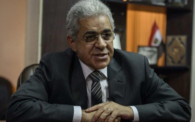 Hamdeen Sabbahi (Crédit : AFP/ Mohamed EL shahed)