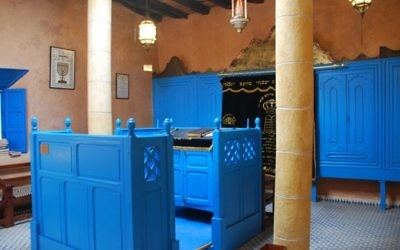La  synagogue d'Essaouira, au Maroc (Crédit : russavia/Wikimedia Commons/File)