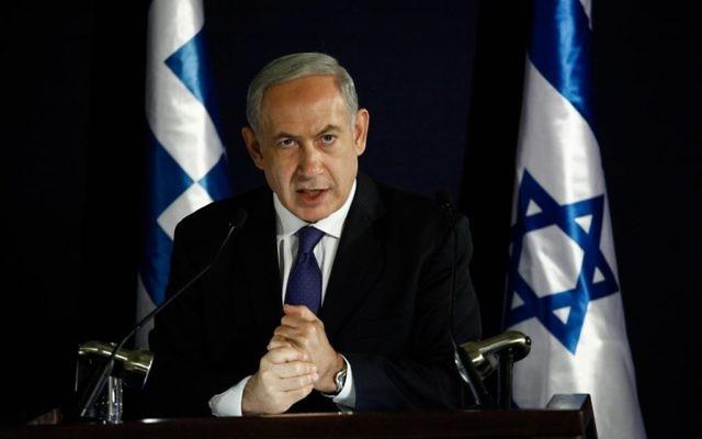 Le Premier ministre israélien Benjamin Netanyahu (Crédit : Flash 90)