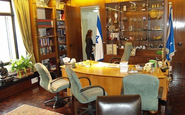 Le bureau du président de l'Etat hébreu (Crédit CC-BY-SA David Shankbone, Wikipedia)