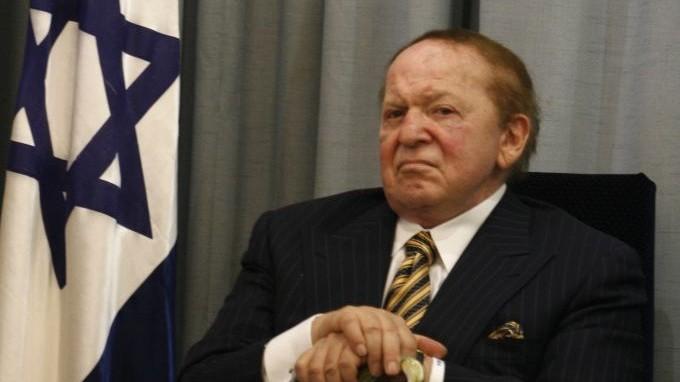 Le milliardaire juif des casinos, Sheldon Adelson (Crédit : Flash90/File)