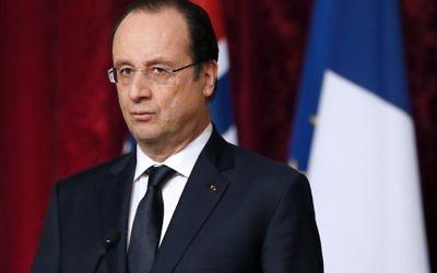 Le président François Hollande en conférence de presse, à Paris le 3 février 2014  (Crédit : AFP/Archives/Patrick Kovarik)