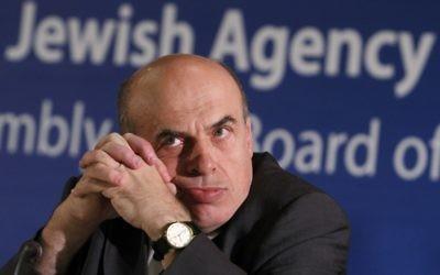 Natan Sharansky, directeur de l'Agence juive (Crédit : Miriam Alster/Flash90)