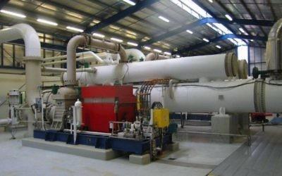 Une turbine géothermique de la société Ormat (Crédit : autorisation)
