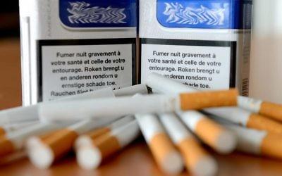 Paquets de cigarettes (Crédit : AFP/Archives Denis Charlet)
