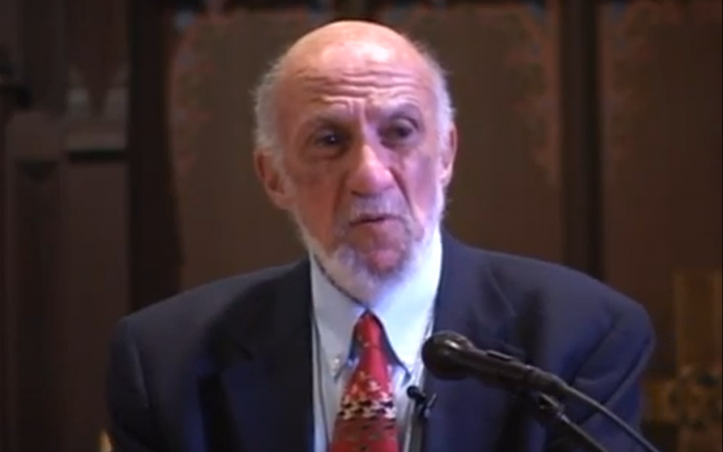 Richard Falk (Crédit : capture d'écran Youtube)